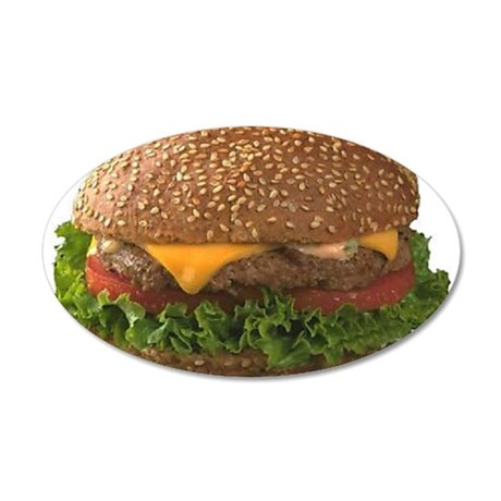 Great Burgers 38.5 x 24.5 Oval Wall Peel