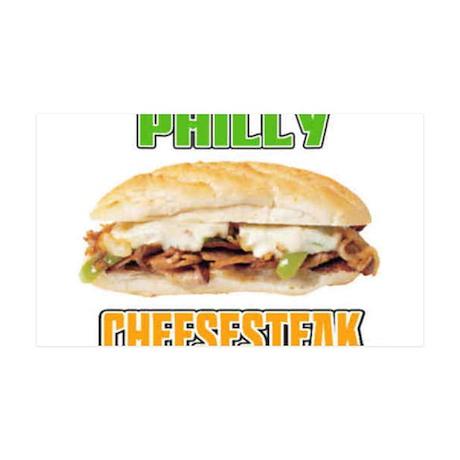 Philly CheeseSteak 38.5 x 24.5 Wall Peel