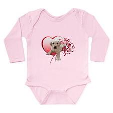 Labrador Heart Long Sleeve Infant Bodysuit