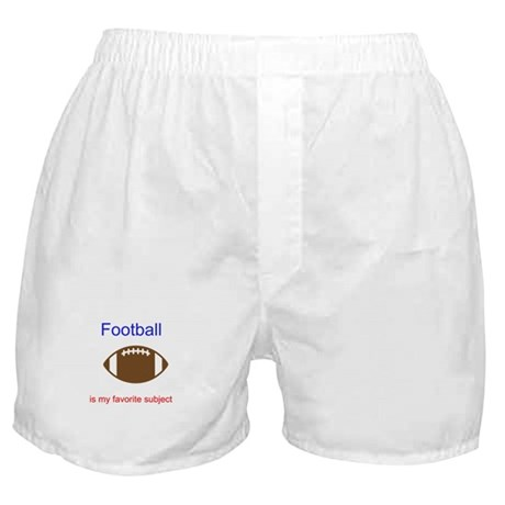 Football is my favorite subje Boxer Shorts