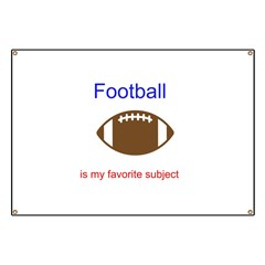 Football is my favorite subje Banner