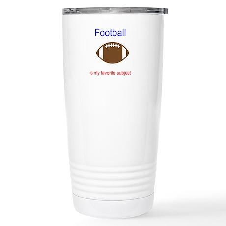 Football is my favorite subje Stainless Steel Trav