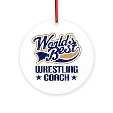 Wrestling Coach Ornament (Round)