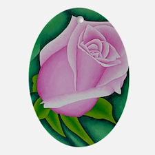 Single Rose Ornament (Oval)