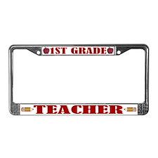 1st Grade Teacher License Plate Frame