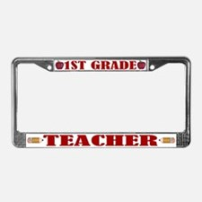 1st Grade Teacher License Plate Frame