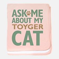 Toyger Cat baby blanket