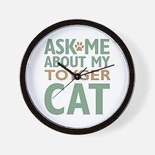 Toyger Cat Wall Clock