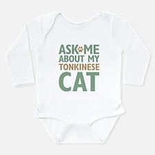 Tonkinese Cat Long Sleeve Infant Bodysuit