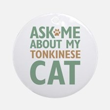 Tonkinese Cat Ornament (Round)