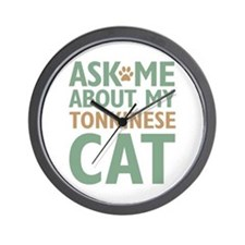 Tonkinese Cat Wall Clock