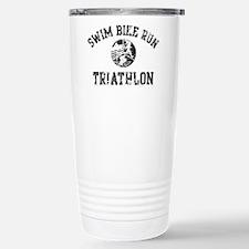 Swim Bike Run Logo Travel Mug