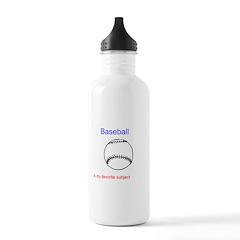 Baseball is my favorite subje Water Bottle