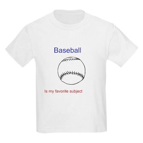 Baseball is my favorite subje Kids Light T-Shirt