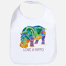 Colorful LOVE A HIPPO Bib