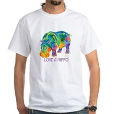 Colorful LOVE A HIPPO Shirt