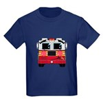 Cute Little Fire Engine Kids Dark T-Shirt