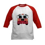 Cute Little Fire Engine Kids Baseball Jersey
