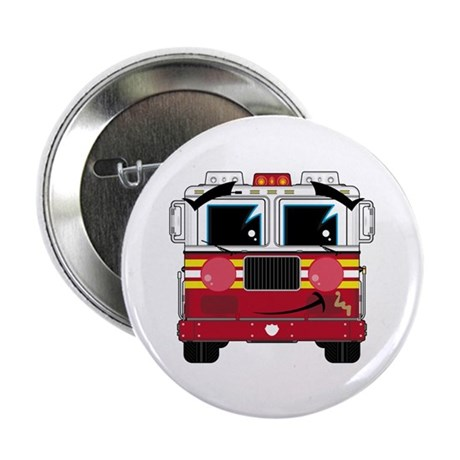 "Cute Little Fire Engine 2.25"" Button (100 Pk)"