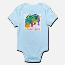 I Love Hippos of Many Colors Infant Bodysuit