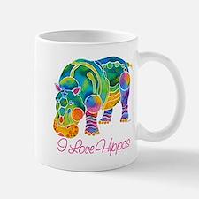 I Love Hippos of Many Colors Mug
