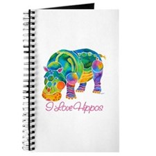 I Love Hippos of Many Colors Journal