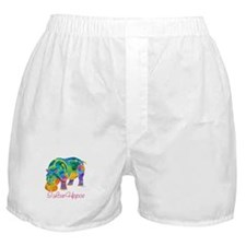 I Love Hippos of Many Colors Boxer Shorts