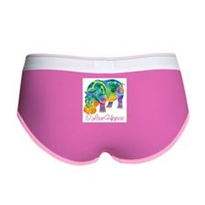 I Love Hippos of Many Colors Women's Boy Brief