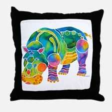 Most Popular HIPPO Throw Pillow