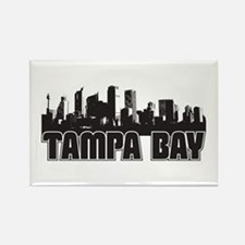 Tampa Bay Skyline Rectangle Magnet