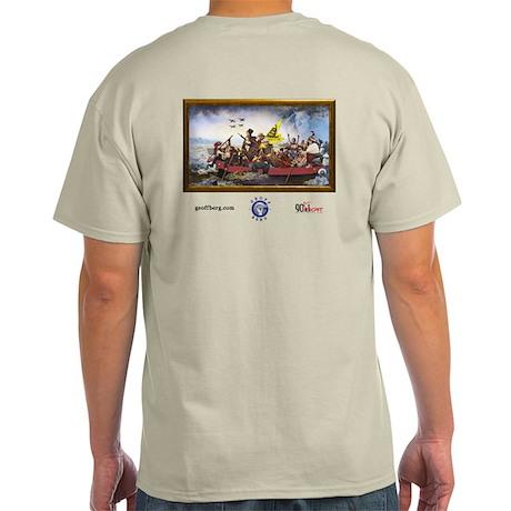 Smart People Cross the Delaware: Light T-Shirt