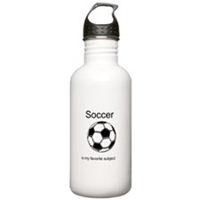 Soccer is my favorite subject Water Bottle