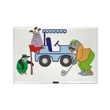 Playing Golf Rectangle Magnet