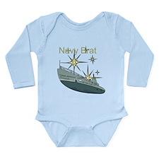 Navy Brat Long Sleeve Infant Bodysuit