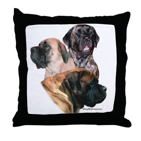 Mastiff 159 Throw Pillow