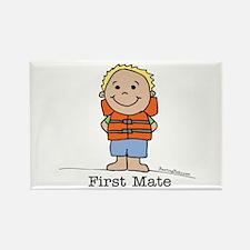 First Mate Boy 1 Rectangle Magnet