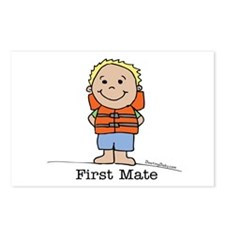 First Mate Boy 1 Postcards (Package of 8)