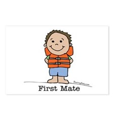 First Mate Boy 3 Postcards (Package of 8)