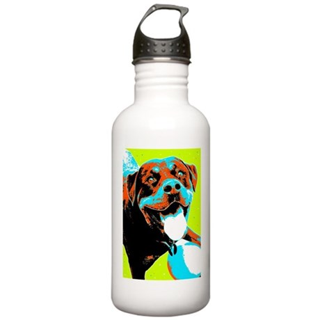 Play Ball Rottweiler Stainless Water Bottle 1.0L