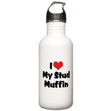I Love My Stud Muffin Water Bottle