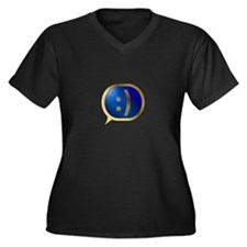 BlueCrush Gold - :) Women's Plus Size V-Neck Dark