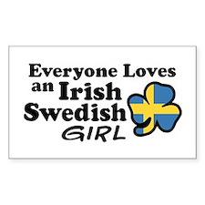 Irish Swedish Girl Decal