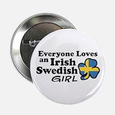 """Irish Swedish Girl 2.25"""" Button"""