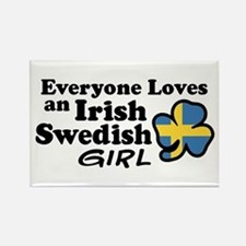 Irish Swedish Girl Rectangle Magnet