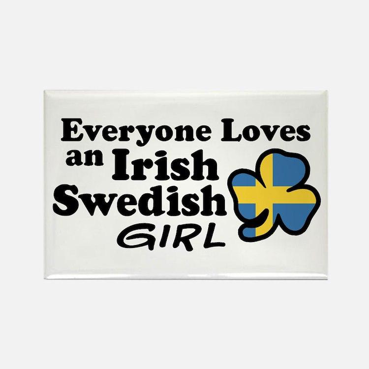 Irish Swedish Girl Rectangle Magnet