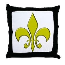 """""""Gold Fleur"""" Throw Pillow"""