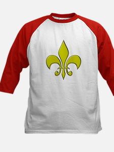 """""""Gold Fleur"""" Kids Baseball Jersey"""
