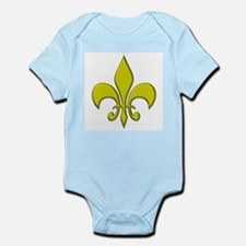 """Gold Fleur"" Infant Creeper"
