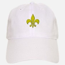 """Gold Fleur"" Baseball Baseball Cap"