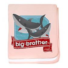 Big Brother Shark baby blanket